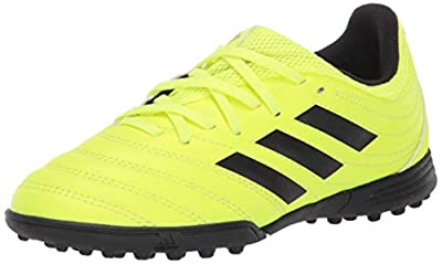 adidas Unisex Copa 19.3 Turf Soccer Shoe Black/Solar Yellow, 11K M US Little Kid
