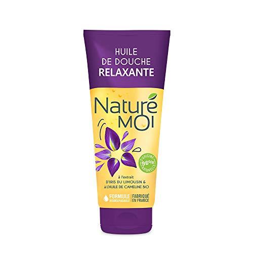 Naturé Moi - Huile de douche relaxante à l'extrait d'iris du Limousin et à l'huile de cameline bio - Hydratant et relaxant pour la peau - 200 ml