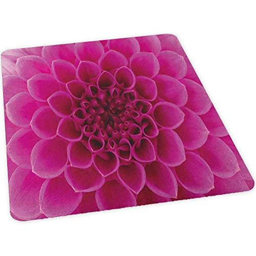 Floral Office Chair mat, Close-Up Flower Petals Florets Nature Beauty Fragrance Botany Bloom Fresh Picture Print, 35' x 47' Chair Mat Protector for Hard Floors, Magenta