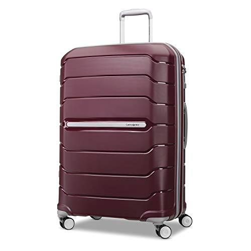 Samsonite Freeform Hardside Expandable with Double Spinner Wheels, Merlot, Carry-On 21-Inch