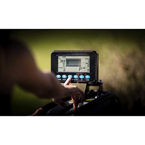 BH Fitness Cardiff R370 – Wasserrudergerät – Rudergerät – 6 Wiederstandsstufen – Einstellbare Pedale – LCD Monitor - 5