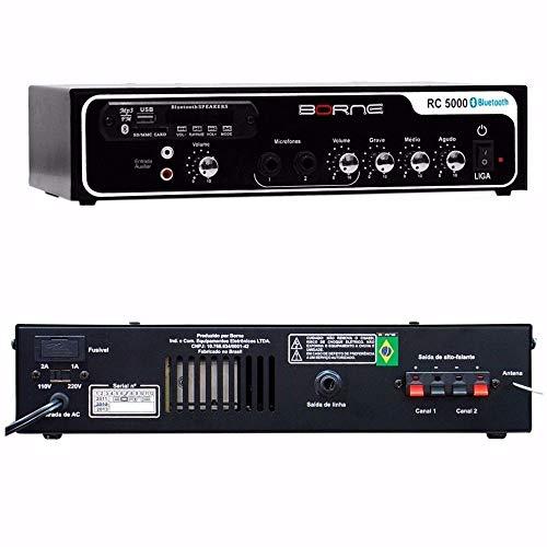 Amplificador Som Ambiente 40W c/ USB / Bluetooth - RC 5000 BT Borne