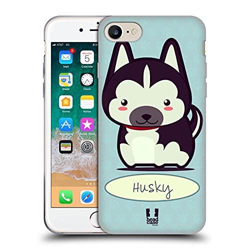 Head Case Designs Husky Cani Fantastici Cover in Morbido Gel e Sfondo di Design Abbinato Compatibile con Apple iPhone 7 / iPhone 8 / iPhone SE 2020