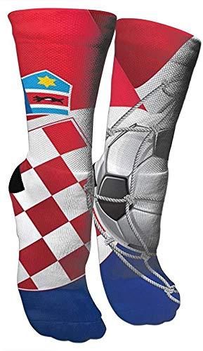 Ccsoixu Croatia Football Mens Funny 3D Athletic Basketball Sports Crew Tube Socks