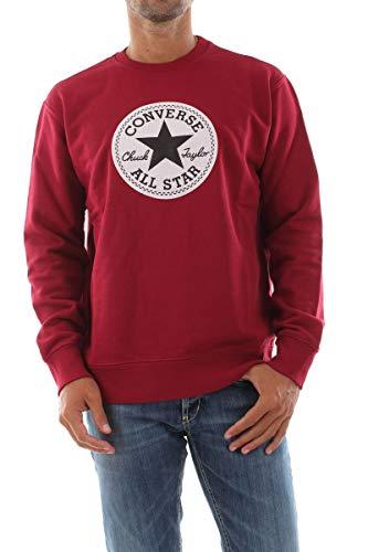 Converse 10018632 - Sudadera para hombre (forro polar) burdeos XL