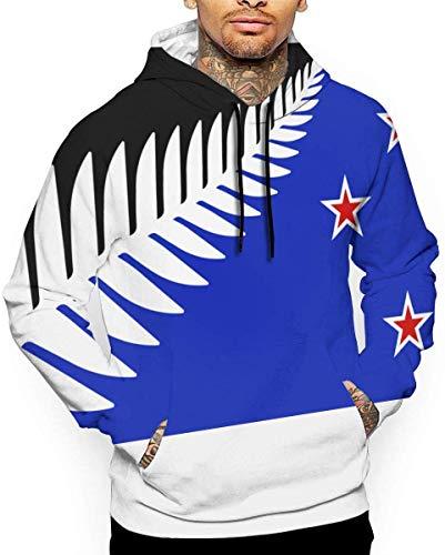 zhkx mannen realistische 3D print hoodie Nieuw-Zeeland Flagsvg hooded sweatshirts
