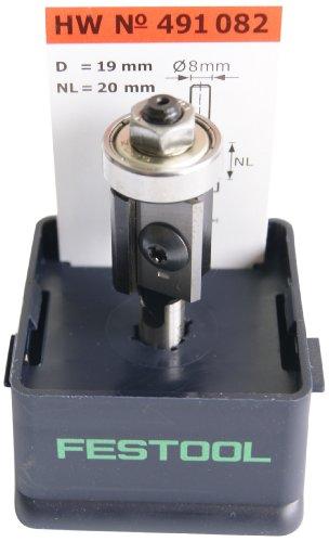 Festool 491082 HW Wendeplatten-Bündigfräser S8 D19/20WM Z2