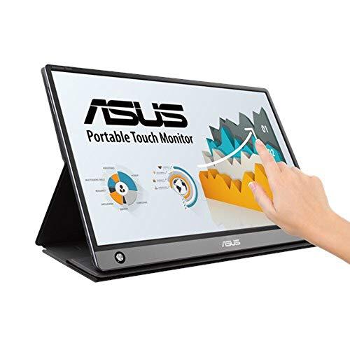 ASUS MB16AMT モバイルモニター モバイルディスプレイ 薄さ9mm・軽量900g、USB/HDMIで簡単接続 15.6インチ フルHD IPS バッテリー内蔵 10点タッチパネル