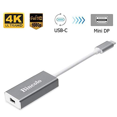 Bincolo USB C to Mini DisplayPort Adapter, USB-C Type-C(Thunderbolt 3) to Mini Display Port 4K 60HZ Adapter for MacBook Pro, New MacBook, LED Cinema Display