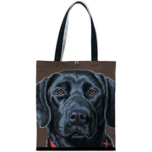 Fiddler's Elbow Einkaufstasche, schwarzer Labrador