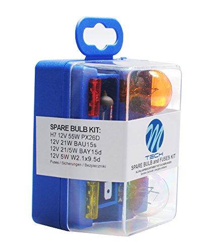 M Tech H7 Set 60/55 W 12 V ampoules/Lampes de rechange avec fusibles