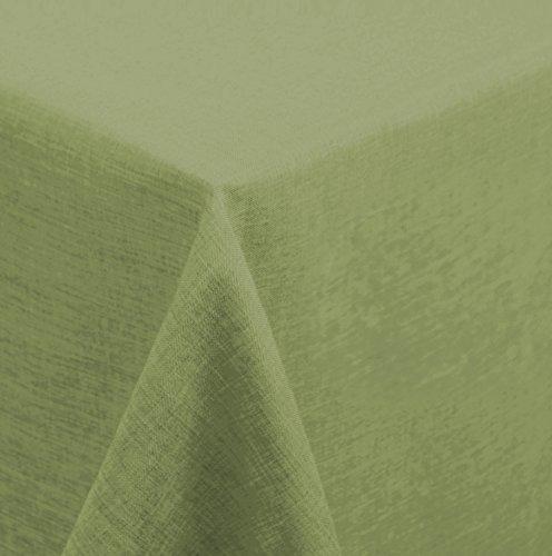 Tafelkleed 130x260 cm vierkant structuur linnenlook gecoat water en vuilafstotend lotuseffect #1122 130x260 lichtgroen