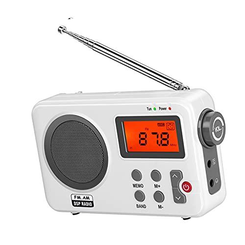 B Blesiya Portatile Radio AM FM Grande Altoparlante Spina Auricolare Leggero per Regalo/Anziano/Casa/Ufficio