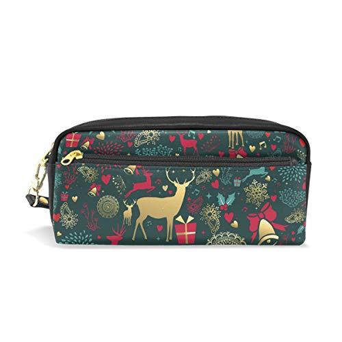 Estuche para lápices de Navidad con diseño de reno para niños, bolsa...