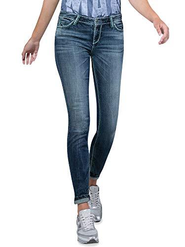 SOCCX Damen Jeans HE:DI mit dunkler Vintage-Waschung