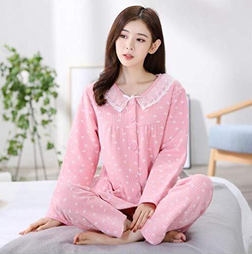 ODMKGE Pijamas Pijamas cálidos de Invierno para Mujer Juego