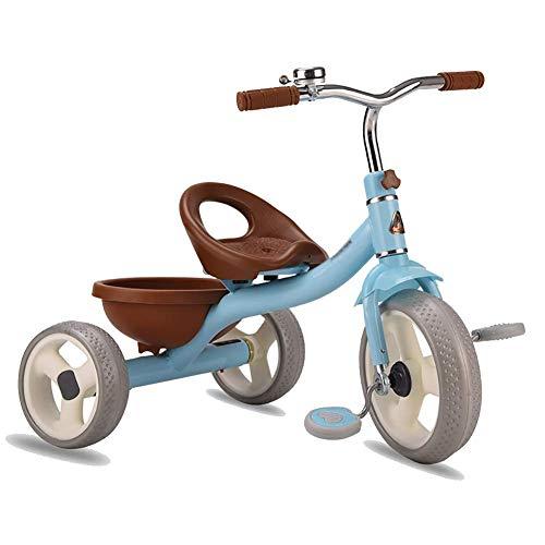 Triciclo Trike Trikes- Kids' triciclos con Asiento Ajustable/Cesta del almacenaje, for los Muchachos/Muchachas de la Edad de 2-5 años, Pedal del niño Portable (Color: Rosa) (Color : Blue)