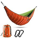 Hamac sous-matelassé pour le camping, la randonnée, le voyage, la plage, la cour, les activités de plein air