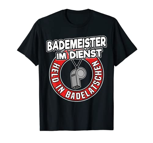 Held in Badelatschen Rettungsschwimmer Lustiges Bademeister T-Shirt