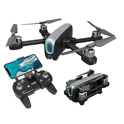 LCSA FlyCam - Dron cuadricóptero UAV con cámara 4K de 3 ejes Gimbal 20 minutos de tiempo de vuelo, para principiantes, color blanco