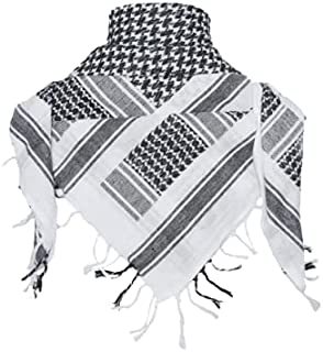 ZZZLAND 100% Cotton Shemagh Men Military Scarf with Tassels 43X43 Inches
