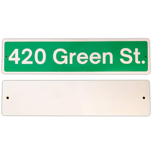 KEEKEET 420 Green Street Sign. Weed Decor & Stoner Stuff. Party Decorations for Adults. Trippy Room Accessories. Metal…
