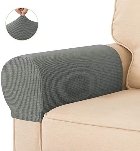 Best CHUN YI Set of 2 Stretch Polyester Sofa Armchair Armrest Covers Slipcovers Furniture Protector Spand