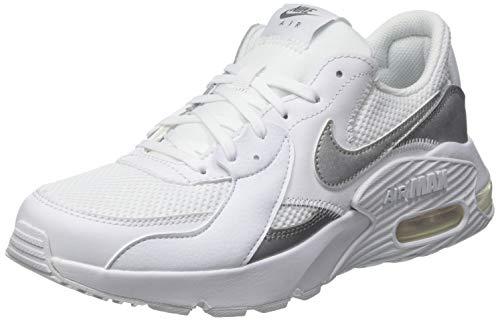 Nike WMNS AIR Max EXCEE, Chaussure de Course Femme, White MTLC Silver, 41 EU