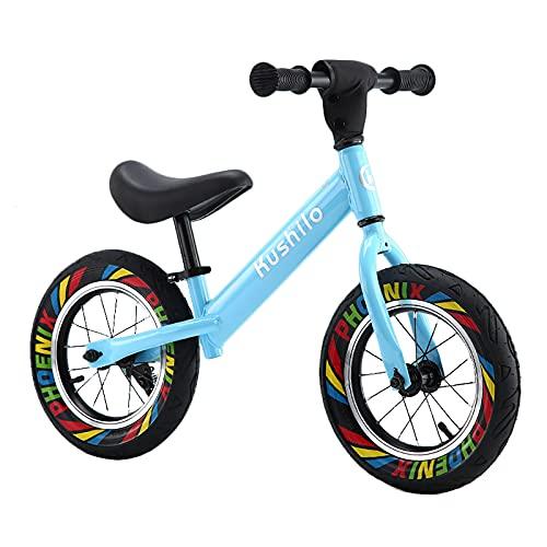 ZLI Bicicleta Equilibrio Bicicletas para Niños para Niños de 2-10 Años, Bicicleta de Entrenamiento de Equilibrio Ajustable con Reposapiés Ancho, Marco de Acero Duradero Fácil de Montar, Azul