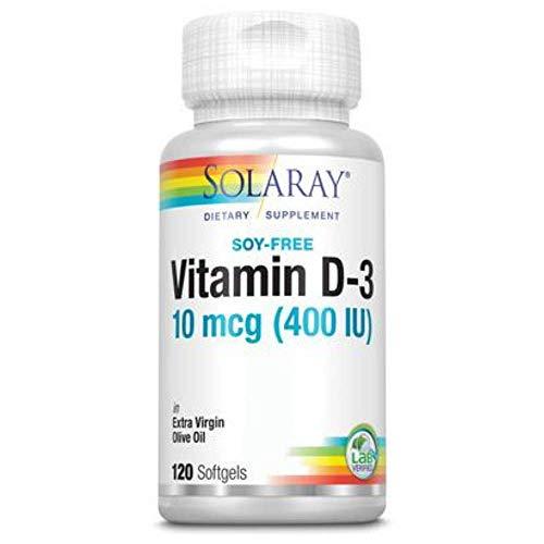 Solaray Vitamin D-3-400 IU | 120 Softgels