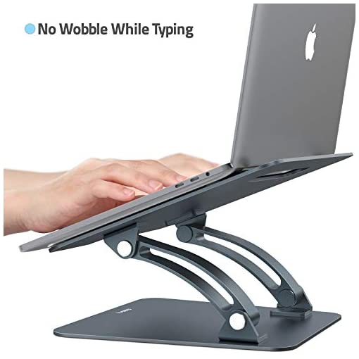 Nulaxy Soporte ergonómico para ordenador portátil, ángulo de altura ajustable 4