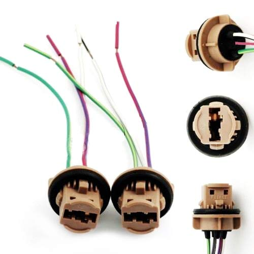 iJDMTOY 7440 7443 Wiring Harness Sockets For LED Bulbs, Turn Signal on