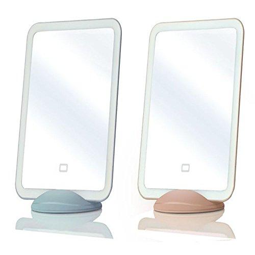 PIANZHI Lumière De Miroir Plat, Lumière d'oeil De LED De Contact De Lampe De Beauté De Miroir De Lumière De Nuit (Bleu Rose),Blue