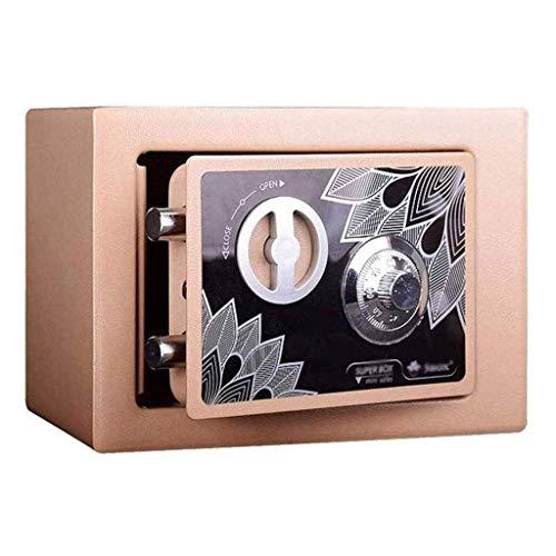 Cajas fuertes, hucha para adultos y niños Mini caja de seguridad mecánica con contraseña Caja fuerte de acero para el hogar, pequeña caja de seguridad para empotrar en la pared - Color: caja de segu