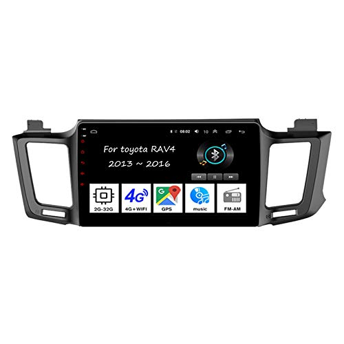Android 10 Radio De Coche 9 Pulgadas Pantalla Tactil para Coche para Toyota RAV4 2013-2016 Android Auto Coche Conecta Y Reproduce Coche Audio FM/Am/RDS Video SWC Cámara Trasera