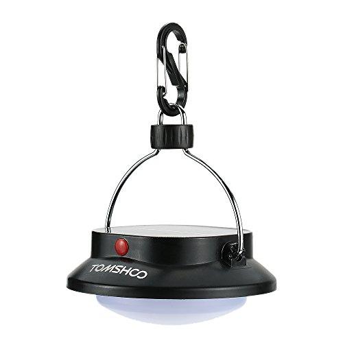 TOMSHOO Lampada Solare Campeggio 200LM 12 LEDs Ricaricabile Lanterna con 3 modalità per Escursione di Campeggio Esterna della Tenda