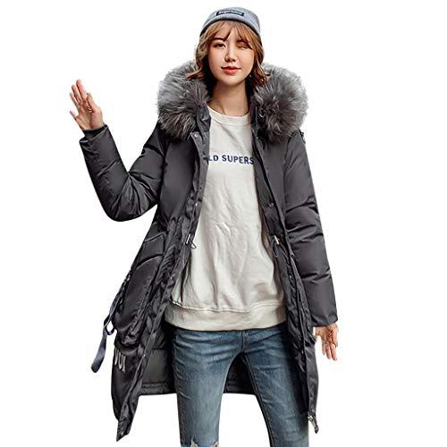 serliy😛Damen Winterjacke Mantel Daunenjacke Hoodie Daunenjacke Lang Parka Jacke Winter Outwear Brief gedruckt Fashion Pattern Wärme Mit Fellkapuze