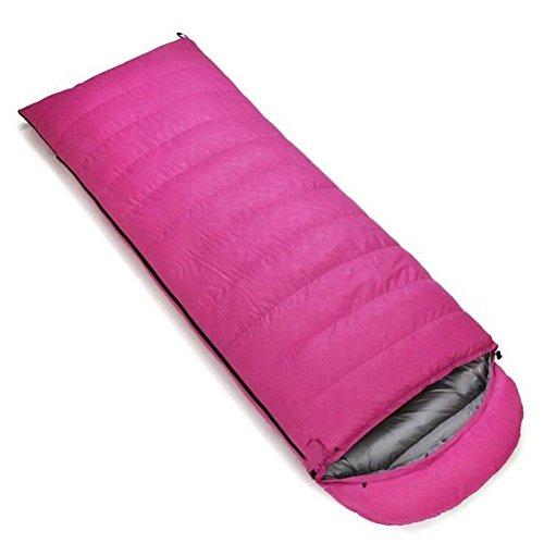 Z&HX sportsDaunenschlafsack Outdoor Ultraleichte Ente Daunenschlafsack Camping Warm Erwachsene Umschl?ge Mittagessen Pause Schlafs?cke , pink , 400 grams of cashmere