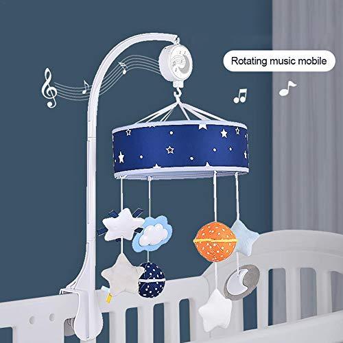 Baby Crib Mobile Mobile Crib Mobile Wind-Up Cuna móvil con Estrellas y Planeta para bebés Bebés