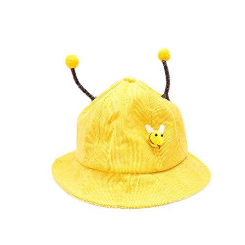 DaoRier Unisex Kinder Fischerhut Nette kleine Biene Baby Sommerhut UV Schutz (Gelb)