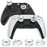 Controller Thumbstick Grips Extenders for PS5/ PS4/ PS3/ Switch Pro/Xbox One/Series X/S Gaming Controller Accessories, OIVO Universal Crystal Clear Soft Silicone Cover Joystick Thumb Grip Caps,4 PCS
