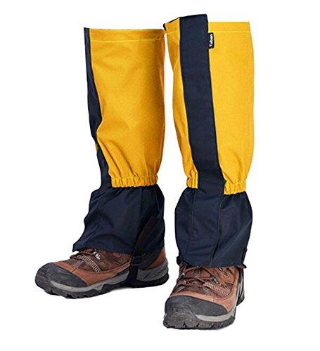 Black Temptation Randonnée/Escalade/Camping/Ski Chaussures Gaiter pour Adultes- Jaune