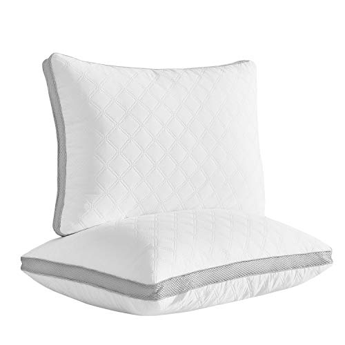 LARIESS Cozy Series Quality Pillows for Sleeping [Set of Two] Premium Plush Fiber, Bed Pillows for Side and Back Sleeper(Queen)