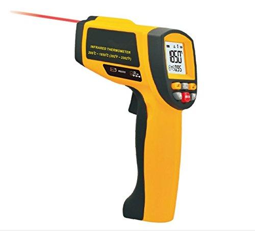 Industrial Laser Termometro a infrarossi, Lifenergy palmare multifunzionale senza contatto Termometro a infrarossi Gamma di temperatura di 200 ~ 1850 ℃ (392 ~ 3362 ℉)
