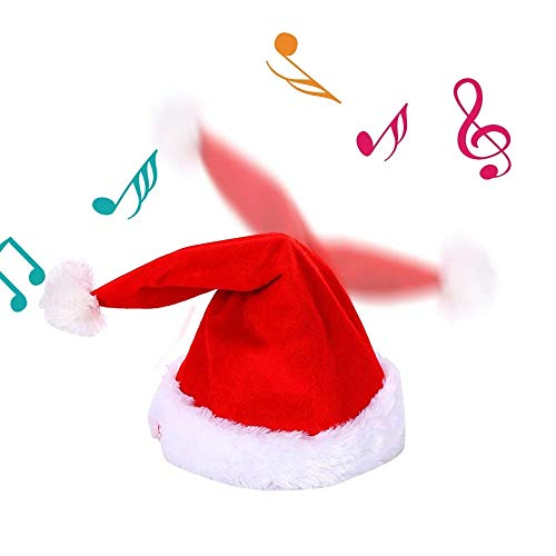 Hihey elektrische kerstmuts rendier gewei dansend met muziek rendiermuts elandmuts kerstmuts (grootte: 20 * 43cm)