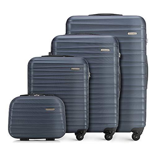 WITTCHEN Koffer-Set 4tlg. Reisekoffer | Navy Blau | 77x29x52 | Kapazität: 195L | Gewicht: 11,2kg