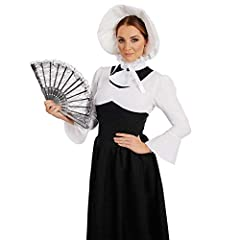 Fun Shack  Womens Victorian Lady Costume Adults Black & White Historical Dress Outfit, M, Victorian Woman #1