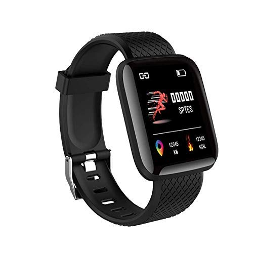 Anoint India ID116 Fitness Tracker Watch Heart Rate with Activity Tracker Steps Count Waterproof for Men and Women Black