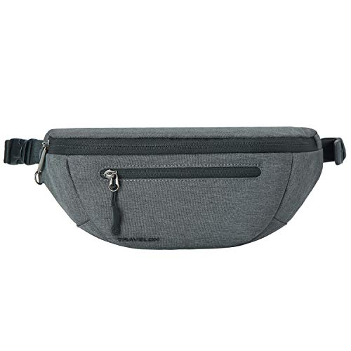 Travelon Unisex-Adult Urban-Anti-Theft-Waistpack, Slate, One Size