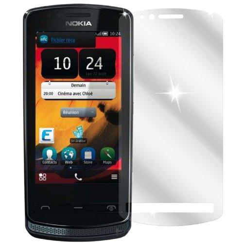 dipos I 2X Schutzfolie klar kompatibel mit Nokia 700 Folie Bildschirmschutzfolie
